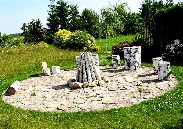 Березовый отпад в ландшафтном дизайне – новая тенденция оформления сада