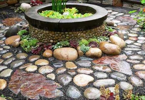 галька с саду фото