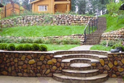 Фото 3. Лестница на разноуровневой поверхности