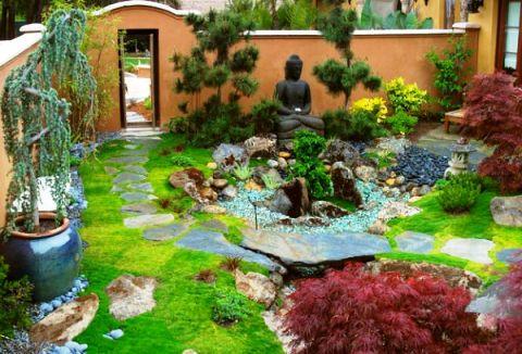 Архитектурные элементы сада в японском стиле