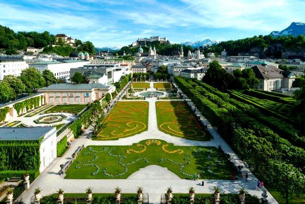 сад  в зальцбурге фото