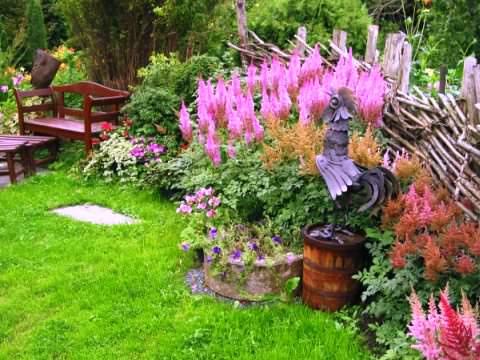 стиль кантри в саду