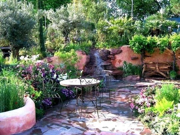 средиземноморский ландшафтный дизайн сада фото